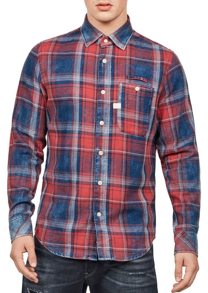 G Star Raw Denim G-STAR RAW Bristum Slim Fit Plaid Shirt