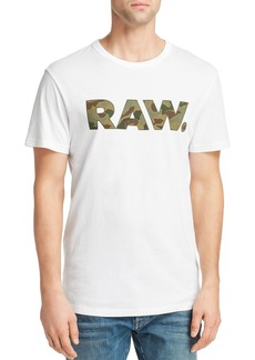 G Star Raw Denim G-STAR RAW Camouflage-Print Logo Graphic Tee