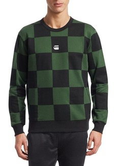 G Star Raw Denim Checkerboard-Print Sweatshirt