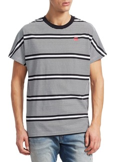 G Star Raw Denim Collyde Stripe Cotton T-Shirt