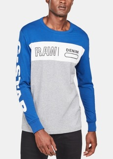 G Star Raw Denim G-Star Raw Colorblocked Graphic Long-Sleeve Tee