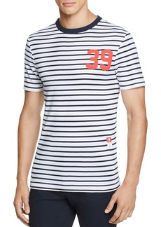 G Star Raw Denim G-STAR RAW Cool Rib Striped Graphic Tee