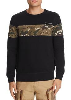 G Star Raw Denim G-STAR RAW Core Camouflage-Print-Inset Sweatshirt