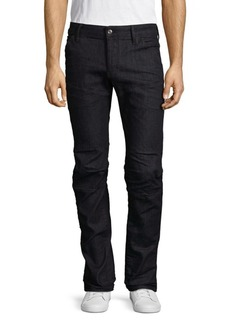 G Star Raw Denim Five-Pocket Medium-Rise Deconstructed Jeans
