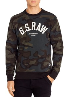 G Star Raw Denim G-STAR RAW Graphic 12 Camo Sweatshirt
