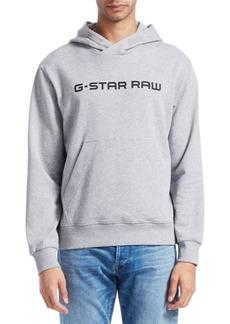 G Star Raw Denim Loaq Hooded Logo Sweatshirt
