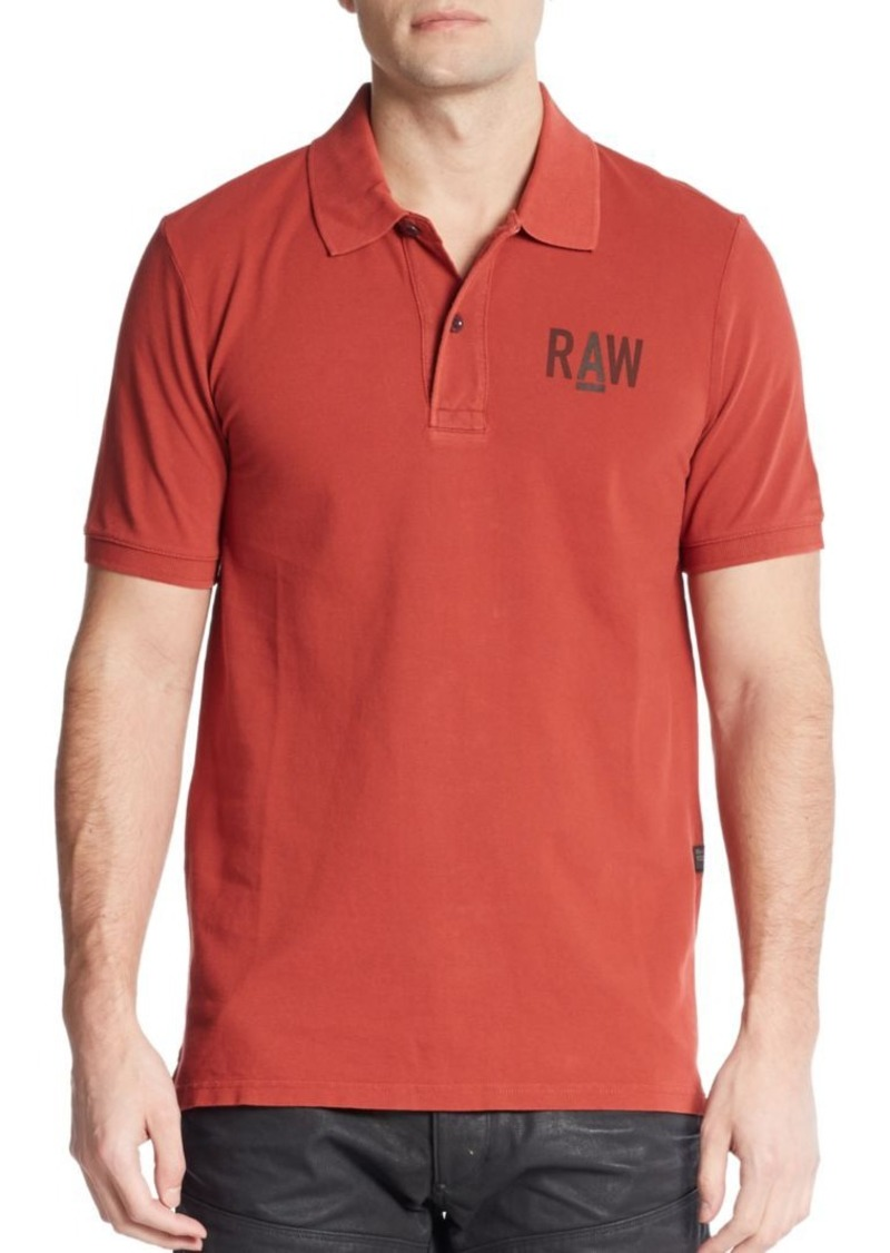 G Star Raw Denim G-Star RAW Logo Cotton Polo Shirt 688bba9c95