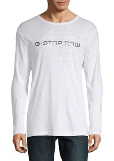 G Star Raw Denim Logo Long-Sleeve Shirt