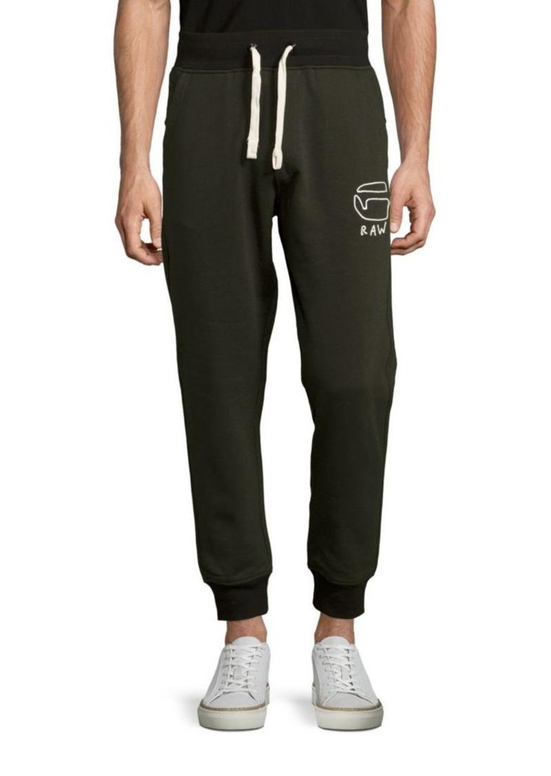 g star raw denim g star raw logo printed pants casual. Black Bedroom Furniture Sets. Home Design Ideas