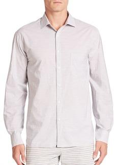 G Star Raw Denim Long Sleeve Striped Button-Down Shirt