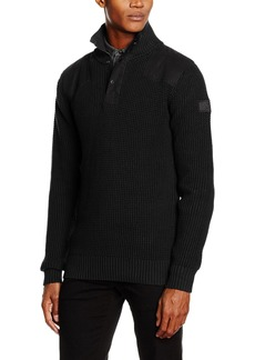 G Star Raw Denim G-Star Raw Men' Utility Half Zip Sweater  Small
