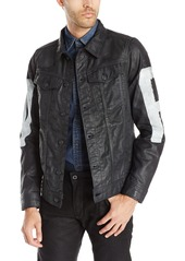 G Star Raw Denim G-Star Raw Men's 3301 3D Denim Jacket with Painted Raw
