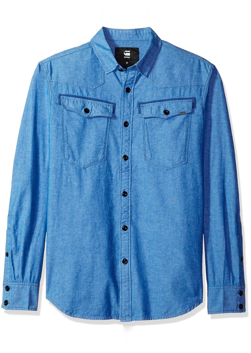 9d11fbce1aa G Star Raw Denim G-Star Raw Men s 3301 Long Sleeve Button Down Shirt ...