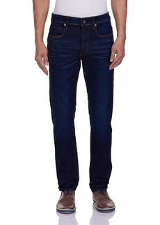 G Star Raw Denim G-Star Raw Men's 3301 Slim Fit Jean in Hydrite Blue Stretch Denim   33x32