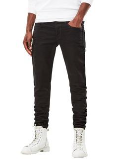 G Star Raw Denim G-Star Raw Men's 3301 Slim-Fit Pant in Black Edington Stretch Denim Raw 36x34