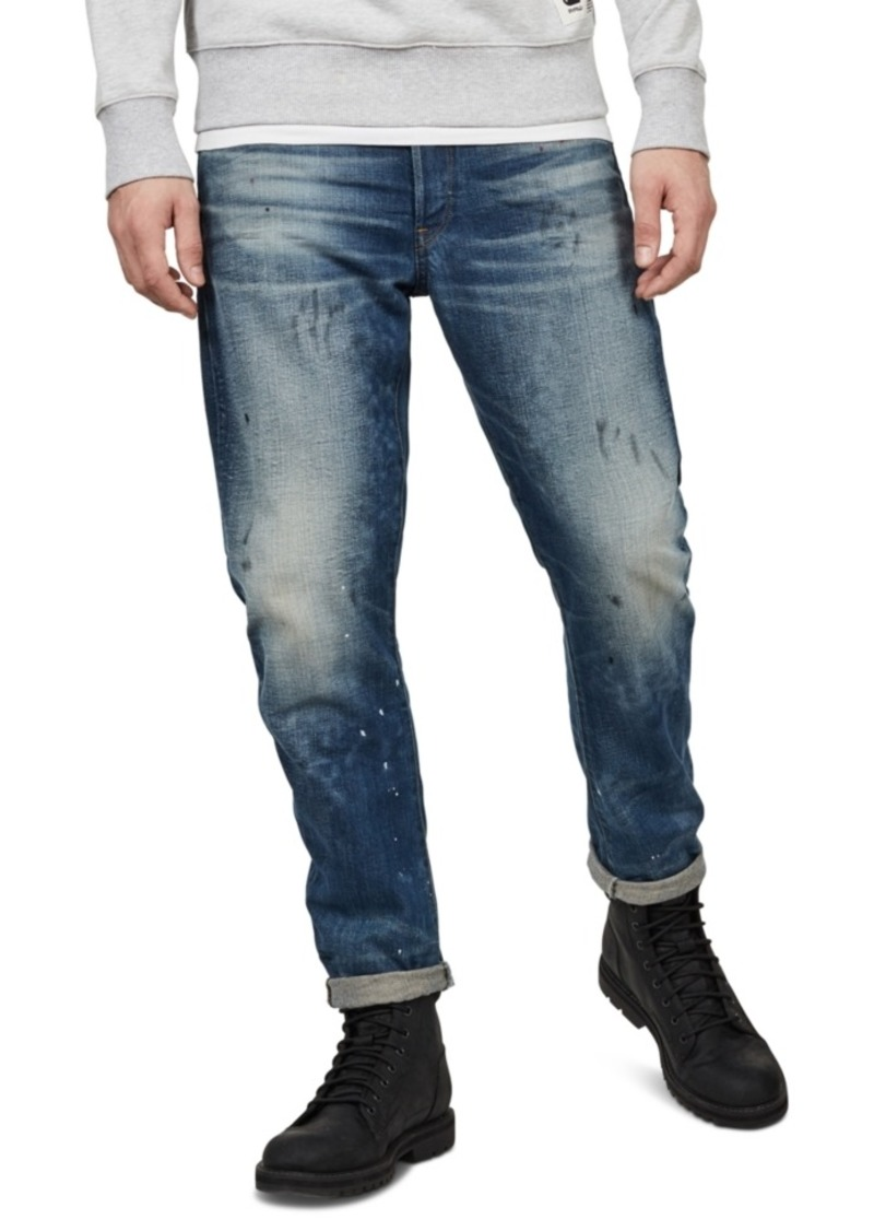 G Star Raw Denim G-Star Raw Men's 3D Straight Tapered Jeans, Created For Macy's