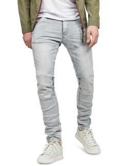 G Star Raw Denim G-Star Raw Men's 5620 3D Gray Distressed Skinny Jeans, Created for Macy's