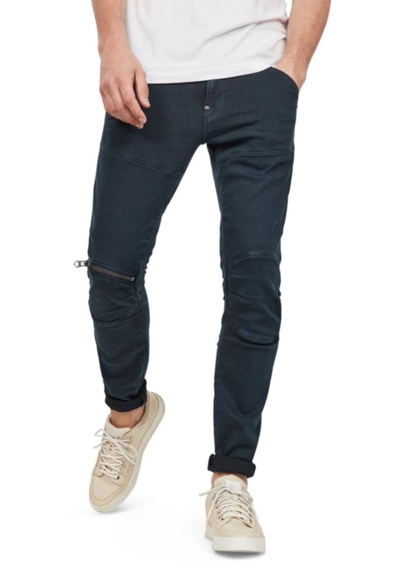G Star Raw Denim G-Star Raw Men's 5620 3D Skinny-Fit Stretch Zip Knee Jeans