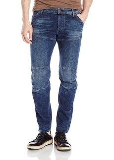 G Star Raw Denim G-Star Raw Men's 5620 Deconstructed 3D Low Tapered Cerro Stretch Jean Medium Aged