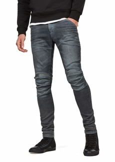 G Star Raw Denim G-Star Raw Men's 5620 Knee Zip Superslim Jeans in Loomer Grey Superstretch  34x32