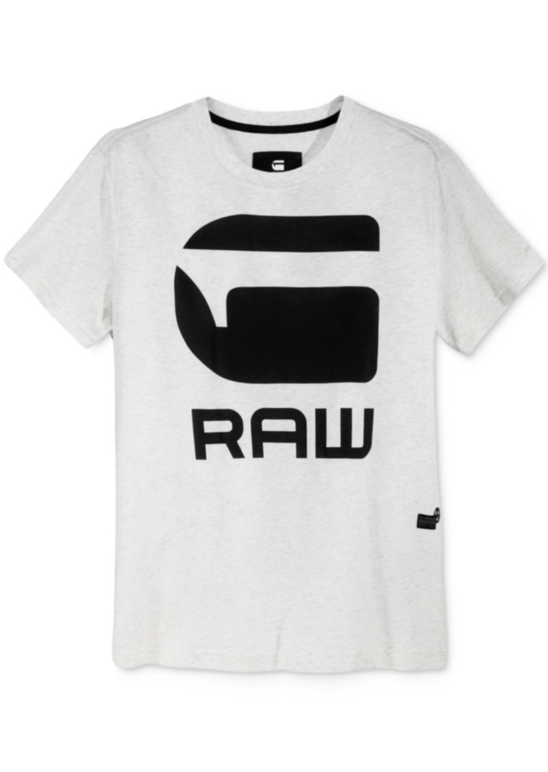 53f6ece15b G Star Raw Denim G-Star Raw Men s Anvan Graphic-Print Logo T-Shirt ...