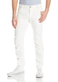 G Star Raw Denim G-Star Raw Men's Arc Zip Slim Fit Jean In Inza White Stretch Denim 3D Aged  32x34