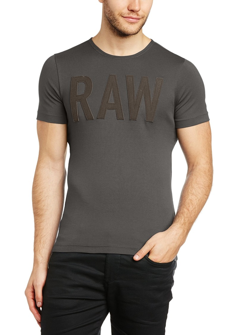 G Star Raw Denim G-Star Raw Men's Art Short-Sleeve Crew-Neck Raw T-Shirt Grey