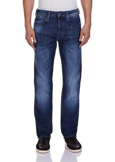 G Star Raw Denim G-Star Raw Men's Attacc Straight Fit Jean In Blue Delm Stretch Denim   32x36