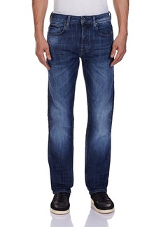 G Star Raw Denim G-Star Raw Men's Attacc Straight Fit Jean In Blue Delm Stretch Denim   34x31