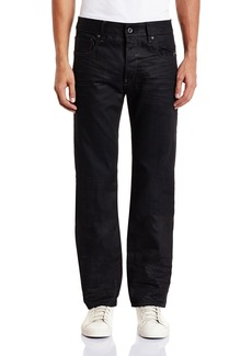 G Star Raw Denim G-Star Raw Men's Attacc Straight Fit Jean In Hoist Black Denim   32x33