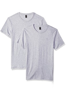 G Star Raw Denim G-Star Raw Men's Base Heather Round Neck Tee Short Sleeve 2-Pack