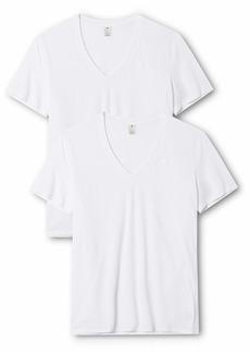 G Star Raw Denim G-Star Raw Men's Base Heather V Neck Tee Short Sleeve 2 Packwhite solid