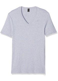 G Star Raw Denim G-Star Raw Men's Base V-Neck Tee Short Sleeve 2-Pack Grey Htr