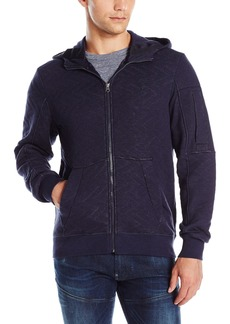 G Star Raw Denim G-Star Raw Men's Batt Full Zip Utah Jacquard Quilted Sweatshirt Hoodie