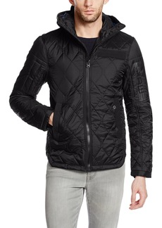 G Star Raw Denim G-Star Raw Men's Batt Ig Hooded Diamond Quilted Overshirt Jacket