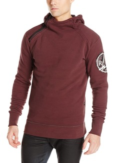 G Star Raw Denim G-Star Raw Men's Bauchan Navy Hooded Sweatshirt In Houston Sweat Dk Fig