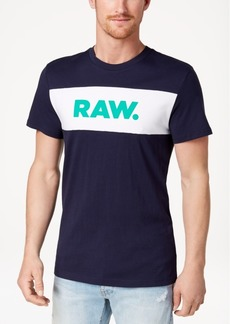 G Star Raw Denim G-Star Raw Men's Bellar Colorblocked Logo-Print T-Shirt