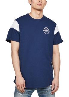 G Star Raw Denim G-Star Raw Men's Blocked Sleeve Logo T-Shirt, Created for Macy's