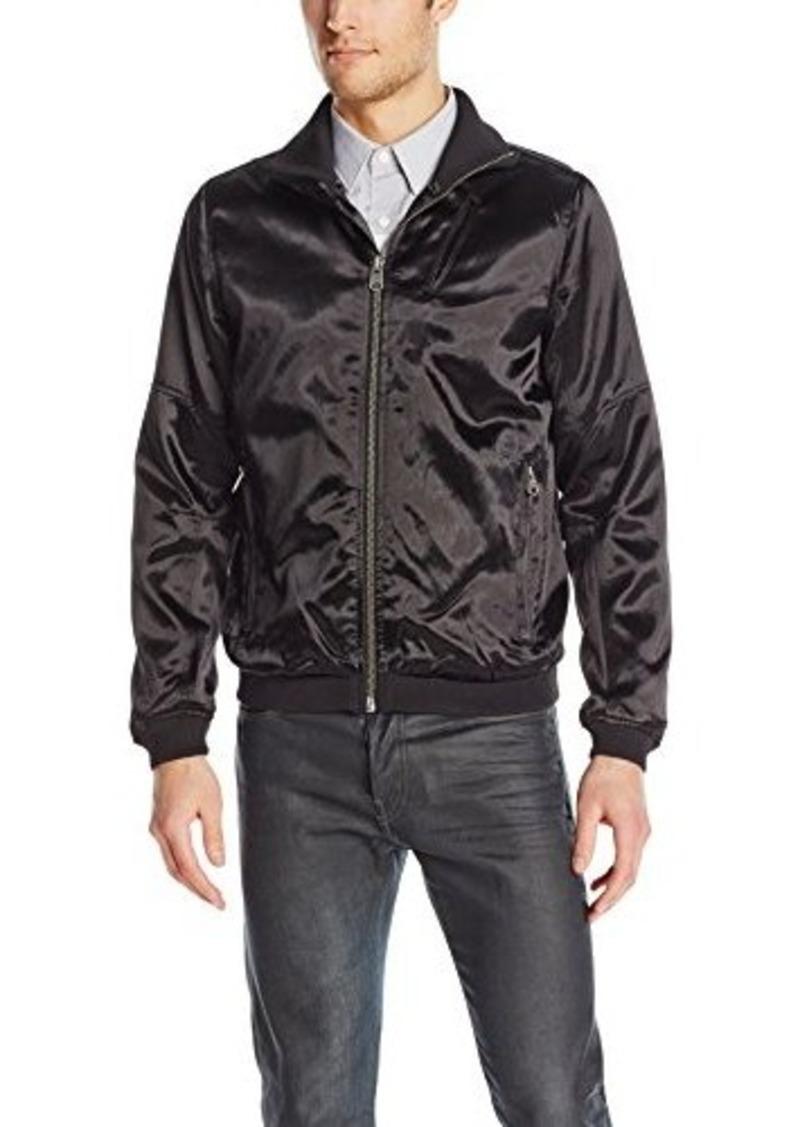 g star raw denim g star raw men 39 s camcord bomber jacket in bowling sateen black black xx large. Black Bedroom Furniture Sets. Home Design Ideas