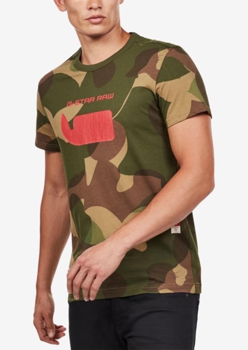 f6156d5699 G Star Raw Denim G-Star Raw Men s Camo Logo T-Shirt