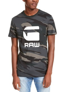 G Star Raw Denim G-Star Raw Men's Camo Logo T-Shirt, Created For Macy's