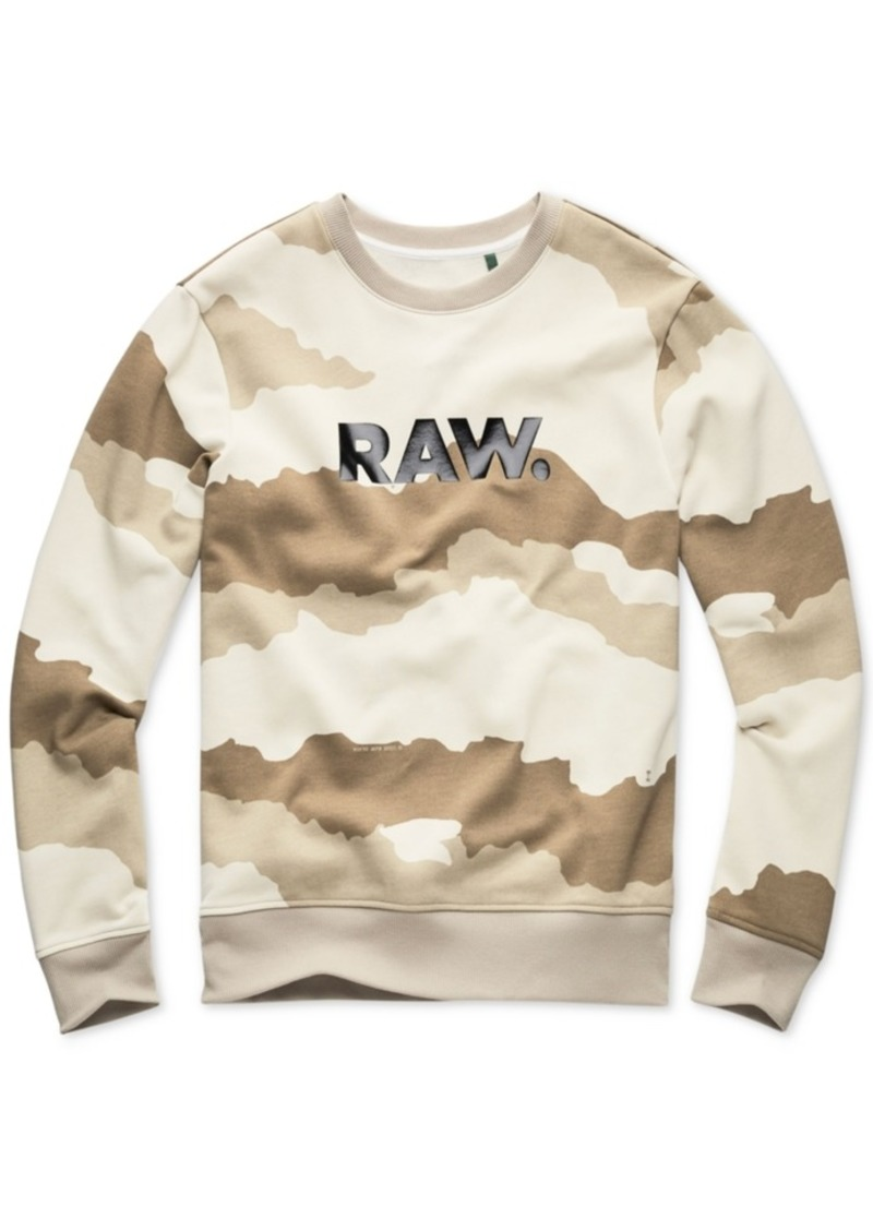 G Star Raw Denim G-Star Raw Men's Camouflage Logo Sweatshirt