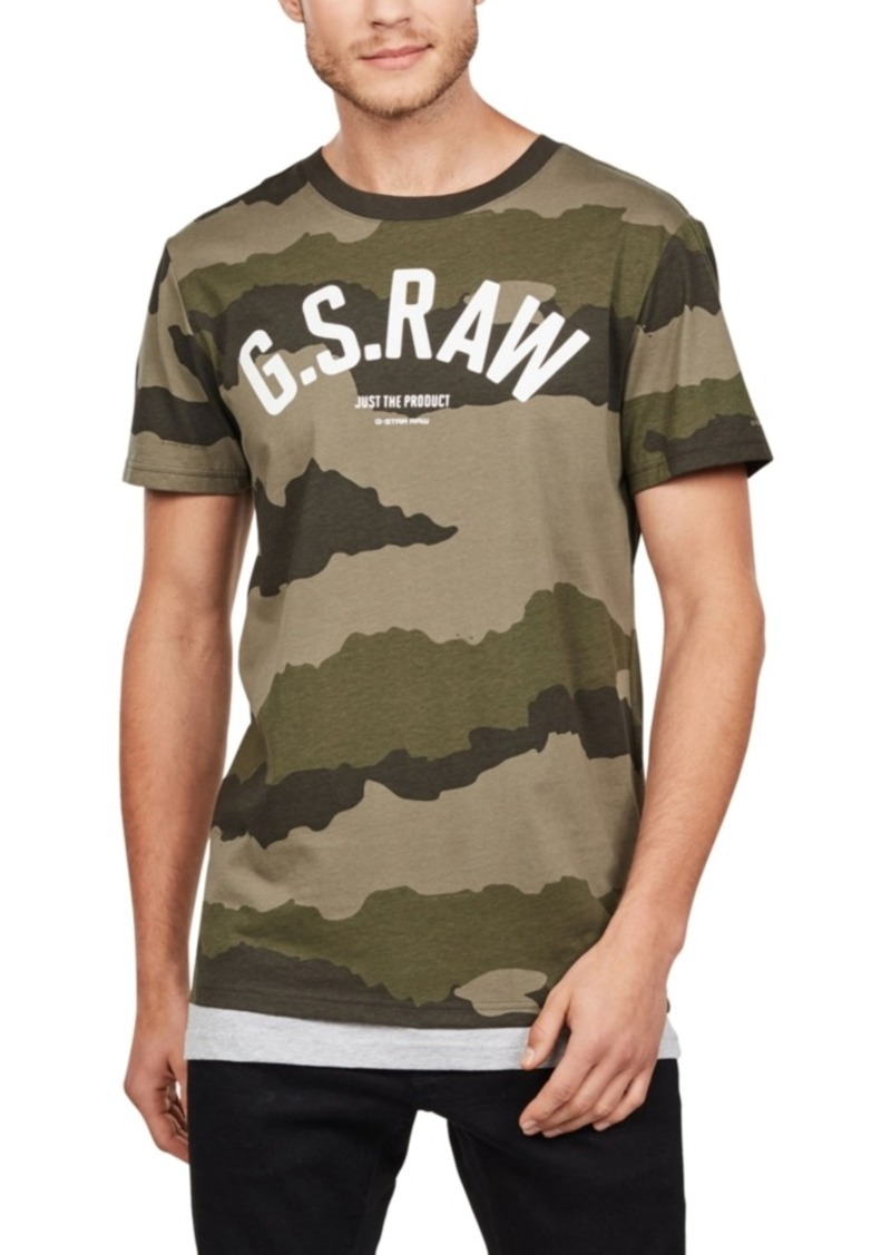 G Star Raw Denim G-Star Raw Men's Camouflage Logo T-Shirt
