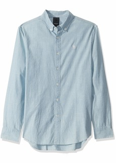 G Star Raw Denim G-Star Raw Men's Chambray Core Long Sleeve Button Down Shirt
