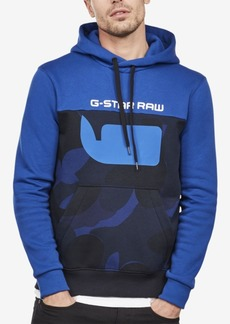 G Star Raw Denim G-Star Raw Men's Colorblocked Camo Logo Hoodie