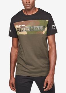 G Star Raw Denim G-Star Raw Men's Colorblocked Camo T-Shirt