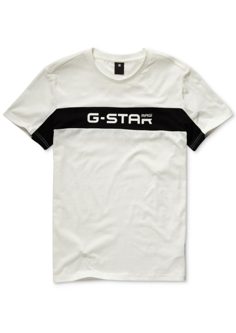 size 40 3498c 282aa G-Star Raw Men's Colorblocked Logo Graphic T-Shirt, Created for Macy's