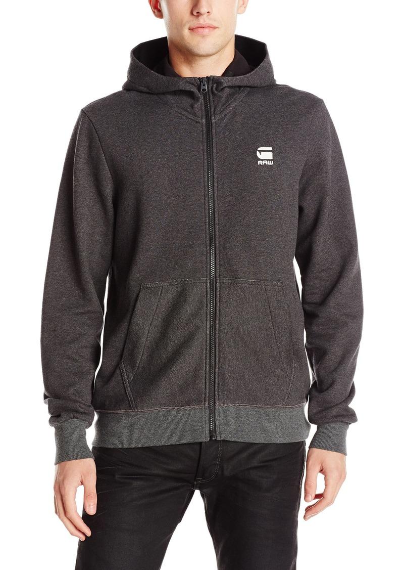 G Star Raw Denim G-Star Raw Men's Core Taped Full Zip Sherland Sweatshirt Hoodie