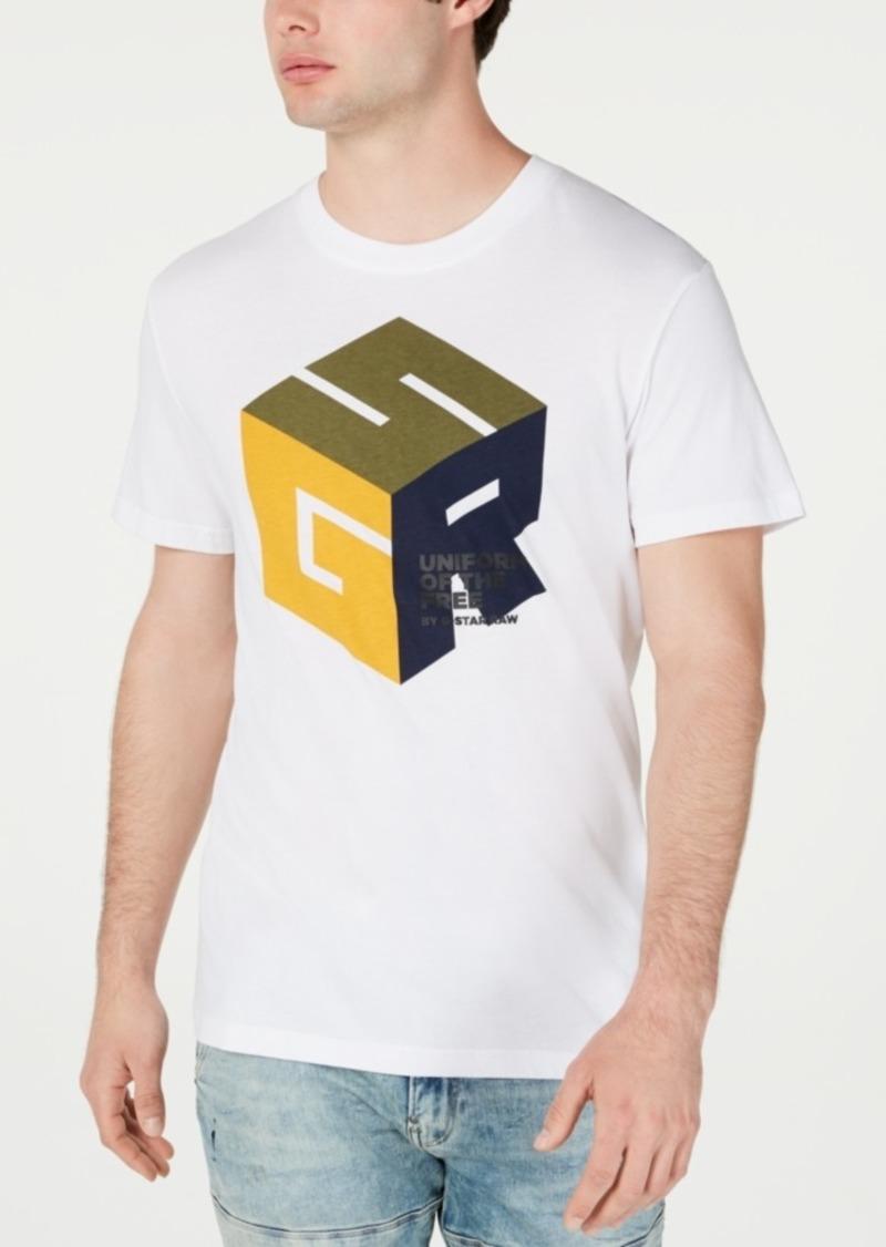 G Star Raw Denim G-Star Raw Men's Cube Logo T-Shirt, Created for Macy's