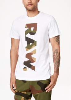 G Star Raw Denim G-Star Raw Men's Daba Camouflage Logo-Print T-Shirt
